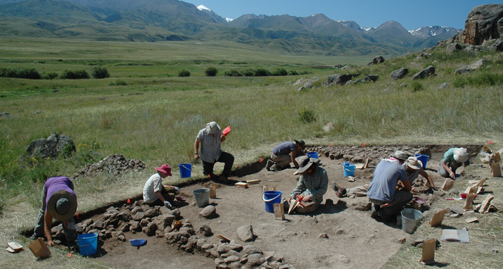 Field School in the Dzhungar Mountains, Kazakhstan by Michael Frachetti.